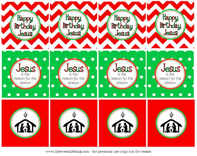 Happy Birthday Jesus Printable