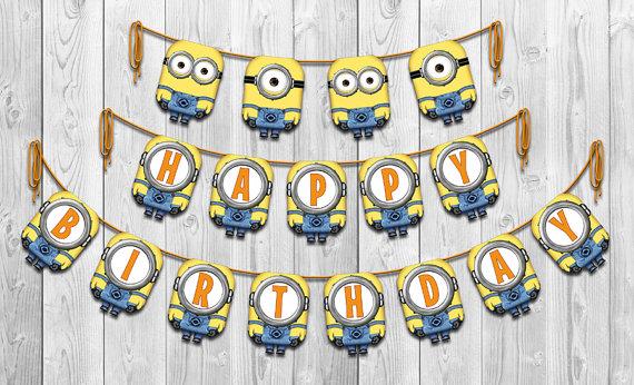 Happy Birthday Minion Banner