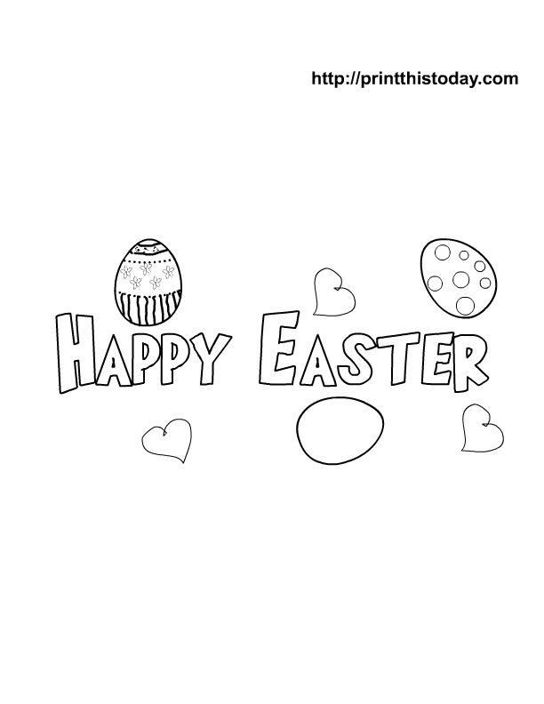 8 Images of Happy Easter Banner Printable To Color