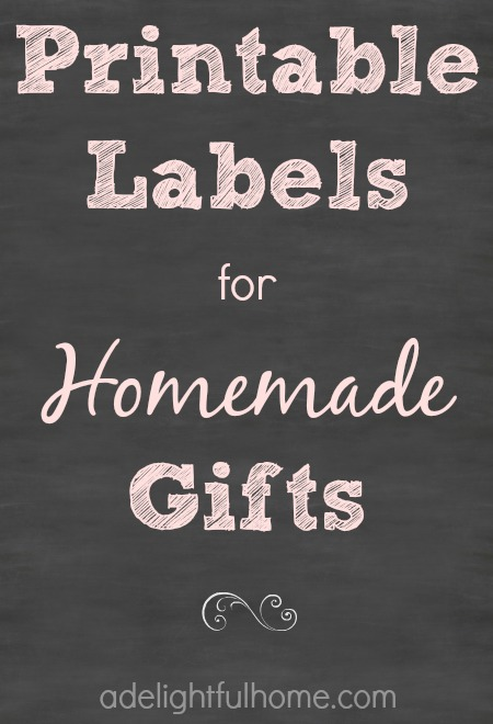 Homemade Gift Labels Printable