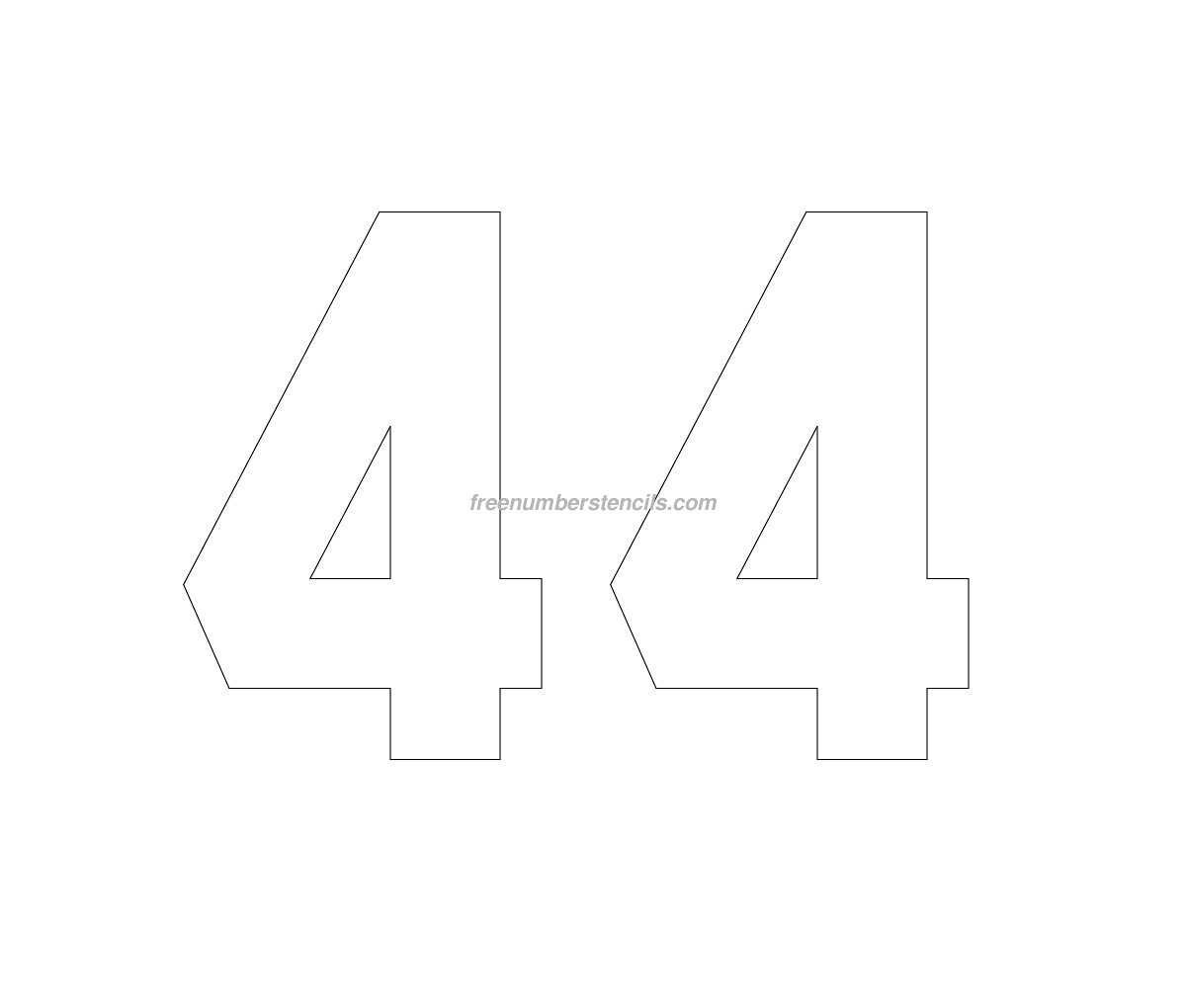 6 Images of Printable Number 44