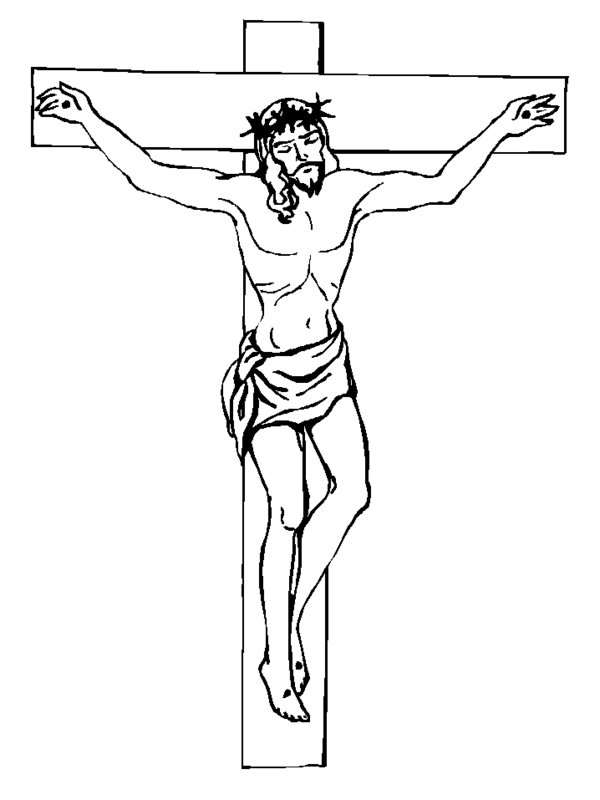 6 best images of crucifix coloring pages printable jesus for Coloring pages of jesus on the cross
