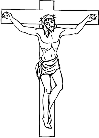 6 Images of Crucifix Coloring Pages Printable
