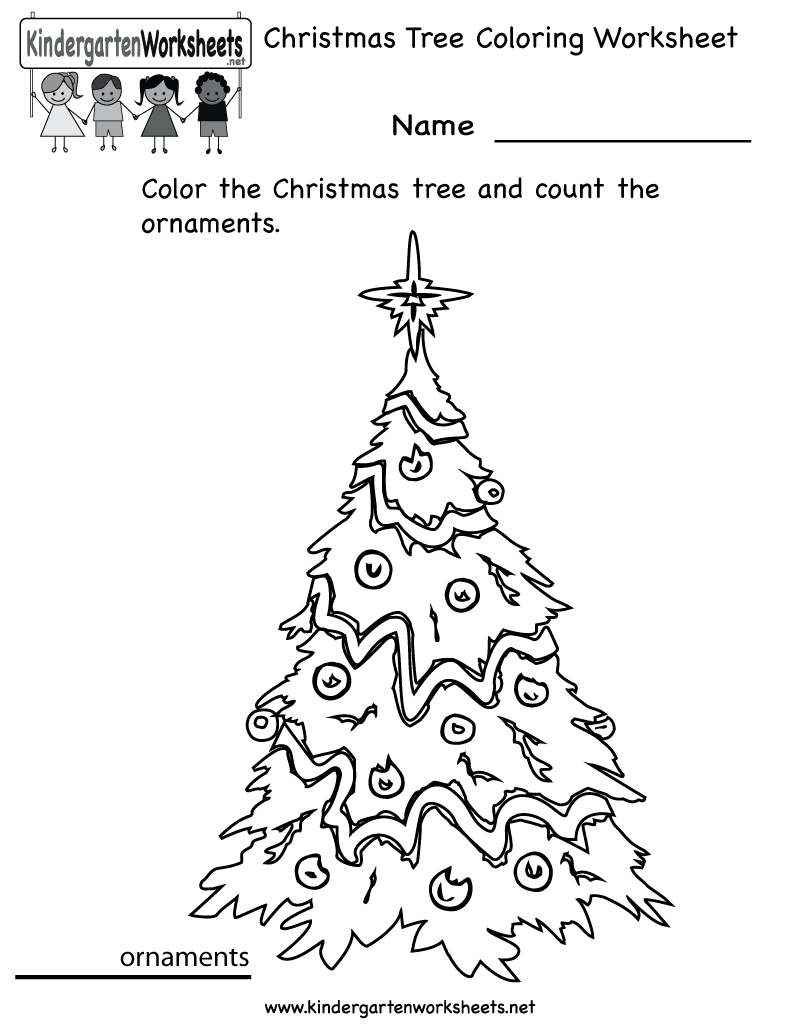 math worksheet : printable christmas worksheets for kindergarten  math practice  : Fun Worksheets For Kindergarten
