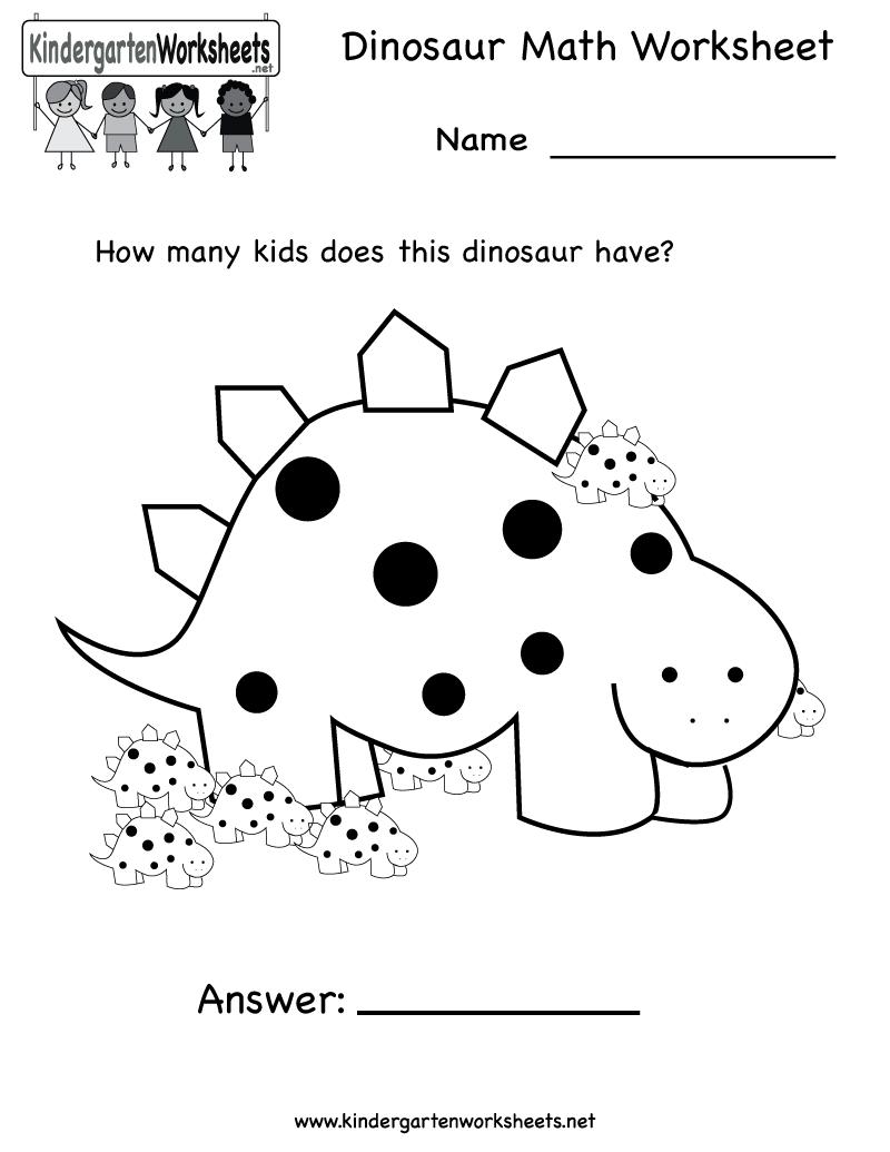 math worksheet : 6 best images of dinosaur math printables  dinosaur math  : Math Printables Worksheets