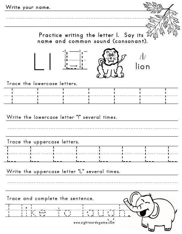 Printables Letter L Worksheets For Preschool preschool worksheets on letter l for kids teachers printables preschoolers under 7