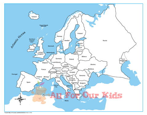 4 Images of Printable Map Of Europe Labeled