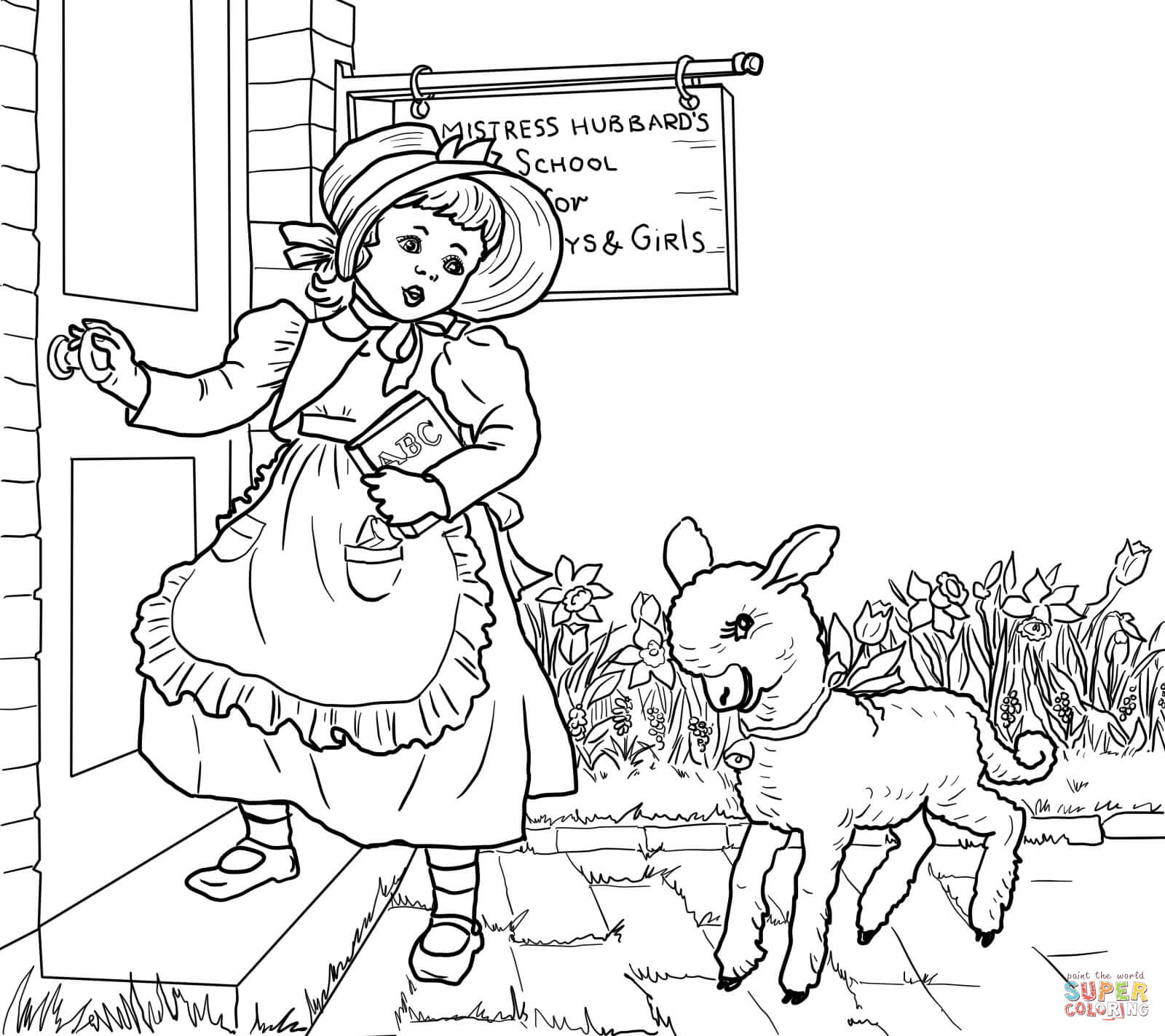 4 Images of Mary Had A Little Lamb Nursery Rhyme Printable