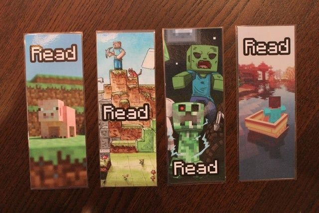 5 Images of Cool Free Printable Minecraft Bookmarks