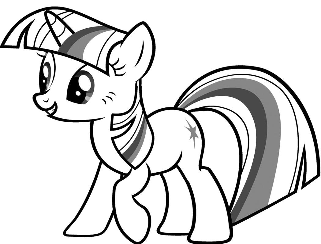 Картинка раскраски май литл пони