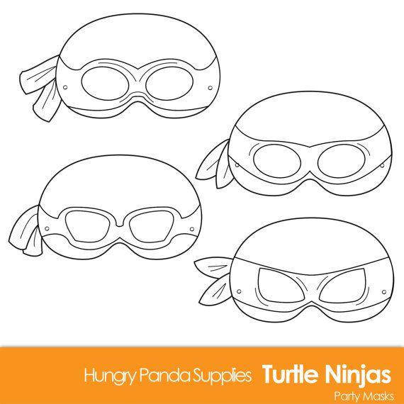 5 Images of Ninja Turtle Printable Masks