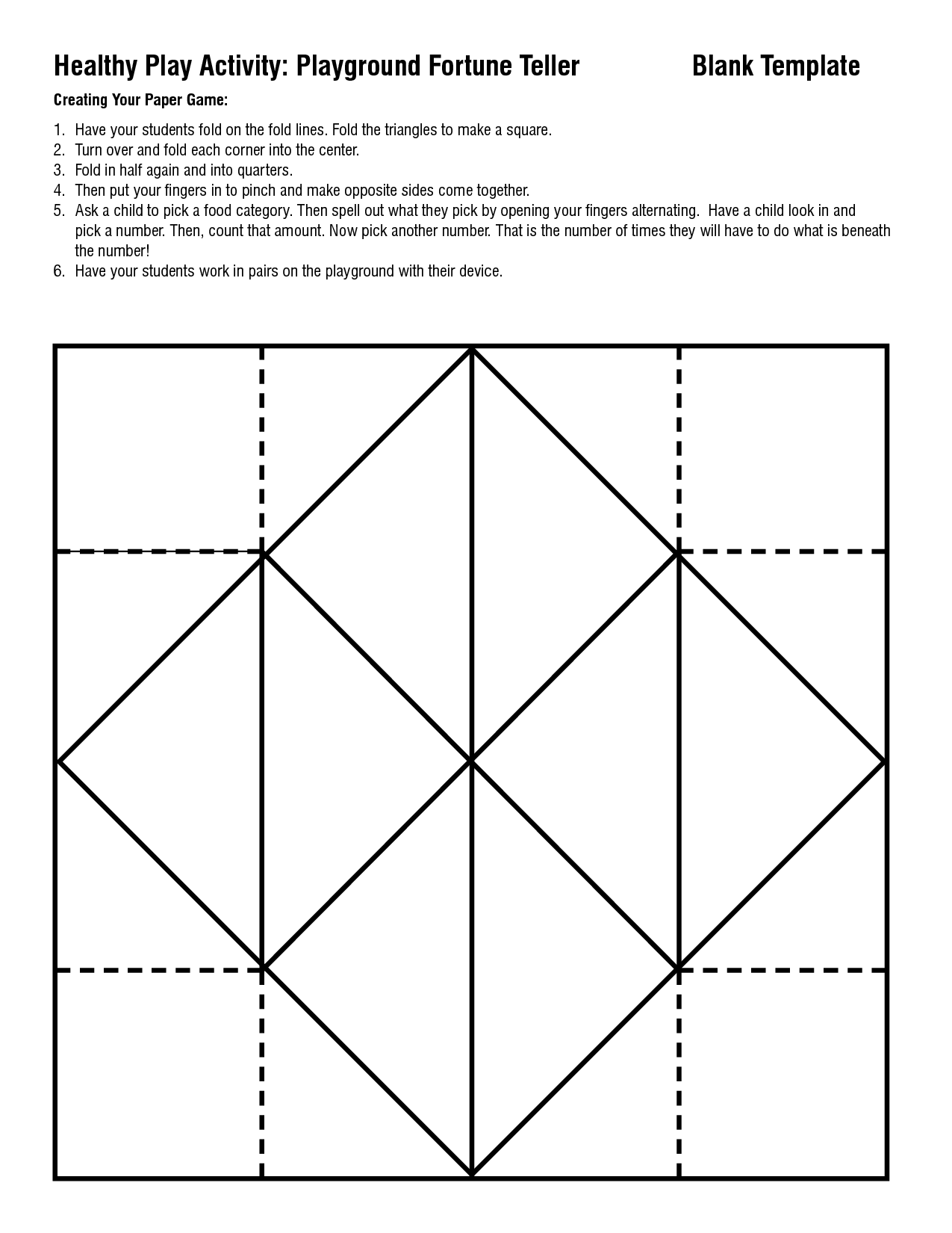 7 Best Images of Fortune Teller Template Printable - Paper ... - photo#37