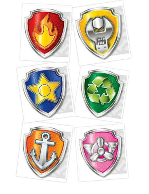 5 Images of Free Printable PAW Patrol Badges
