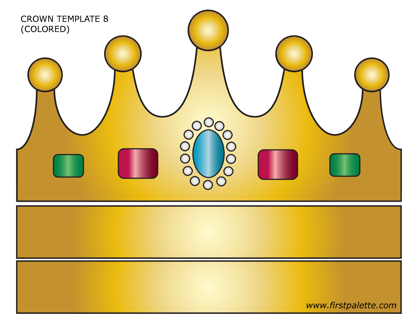8 best images of free printable crown craft free for Kings crown template for kids