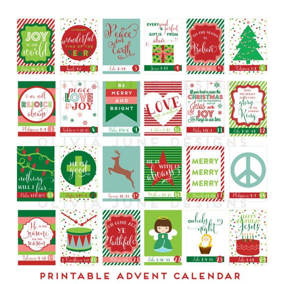 Printable Advent Calendar with Scripture