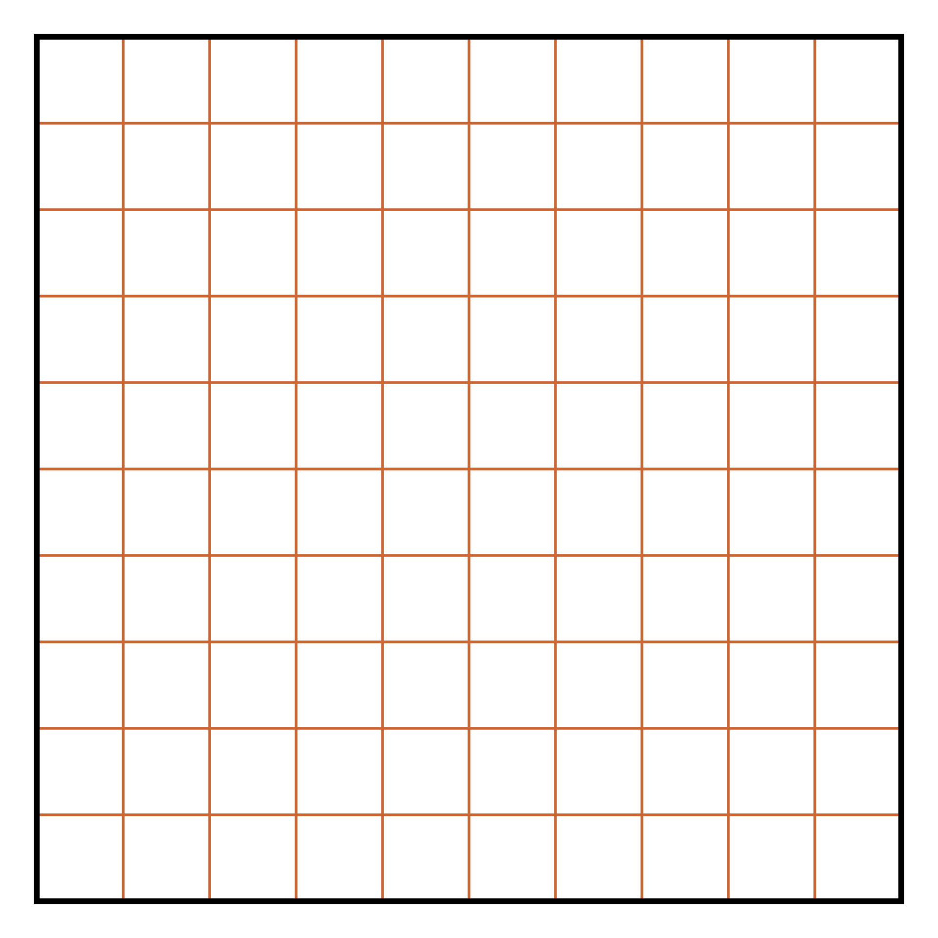 Printable Blank 100 Square Grid