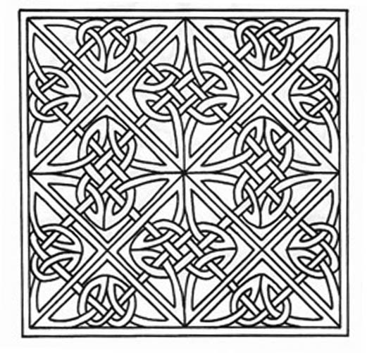 6 Images of Free Printable Celtic Knot Patterns