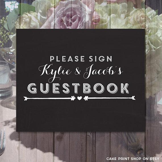 Printable Chalkboard Wedding Signs