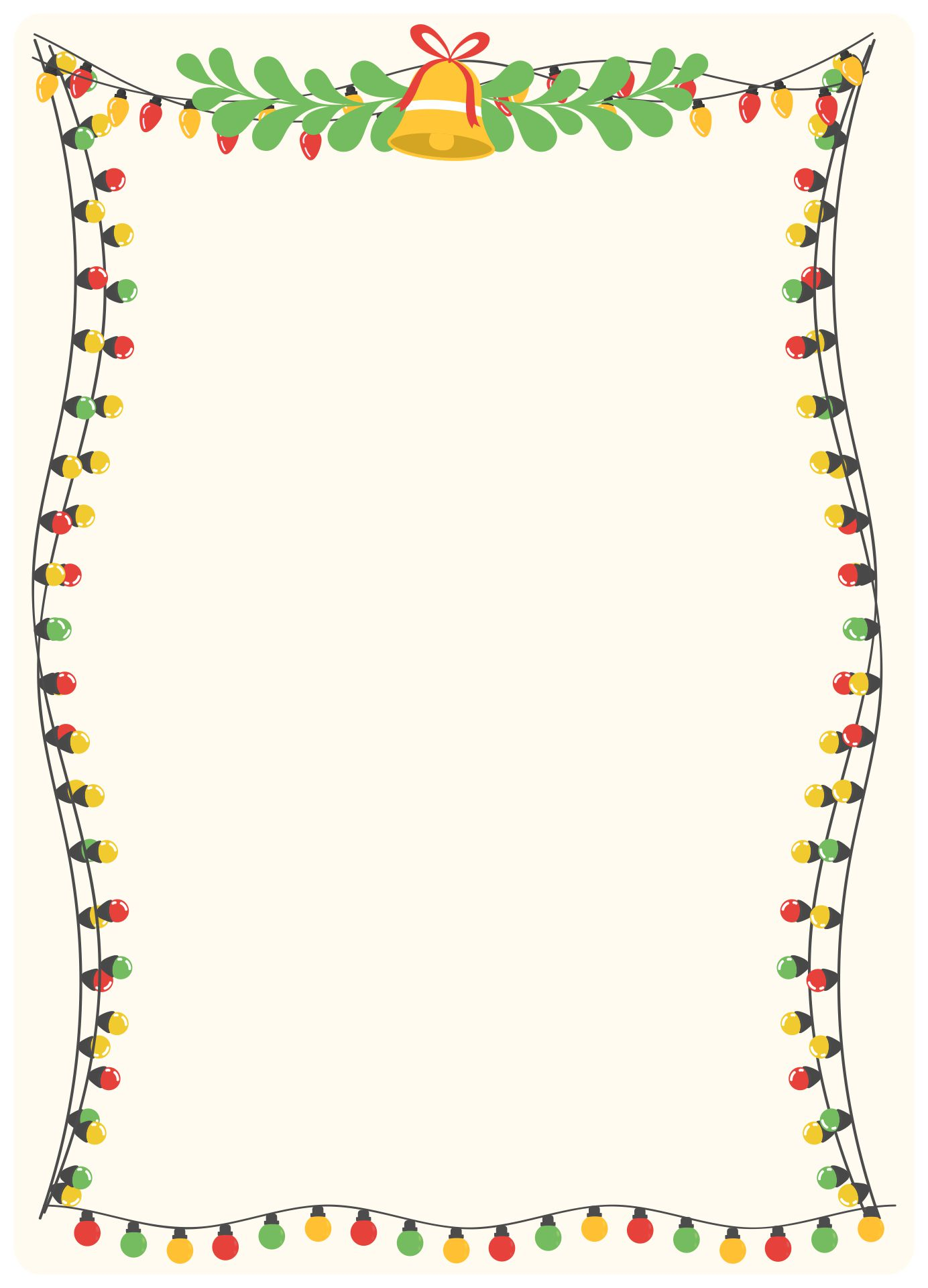 Printable Christmas Lights Border