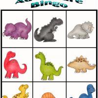 9 Images of Dino Bingo Free Printables
