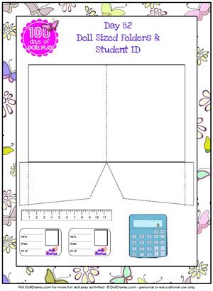 7 Images of Doll School Folder Printables