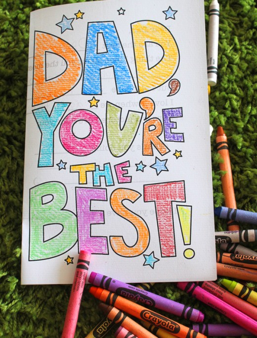 8 Images of Father's Day Cards Kids Printable