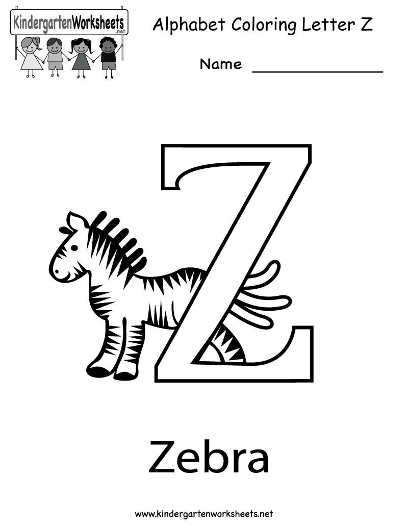 Letter Z Worksheets - Synhoff