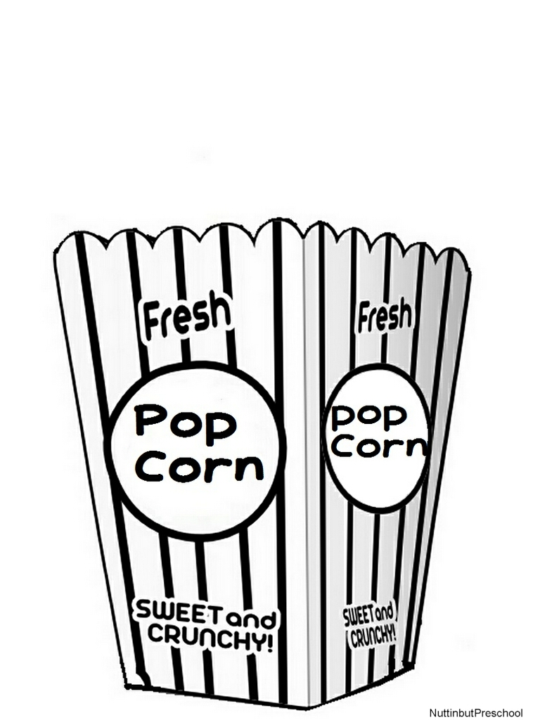5 Images of Popcorn Coloring Pages Printable