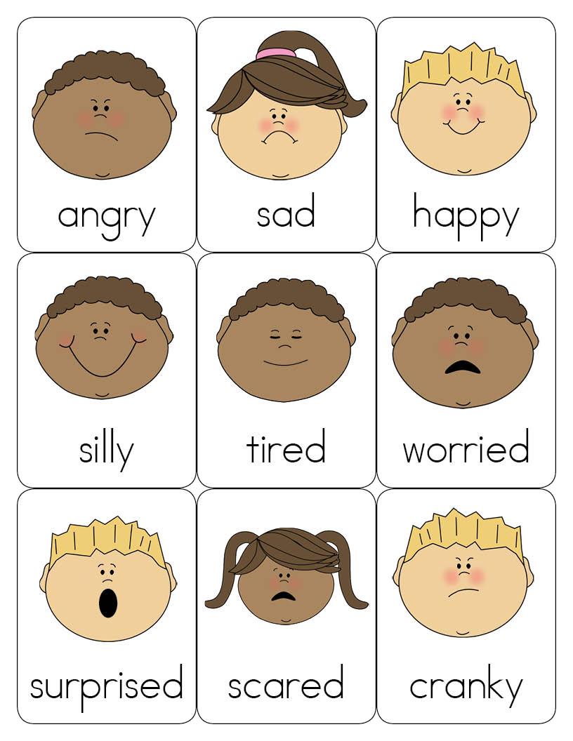 5 Images of Preschool Printables Emotions Feelings