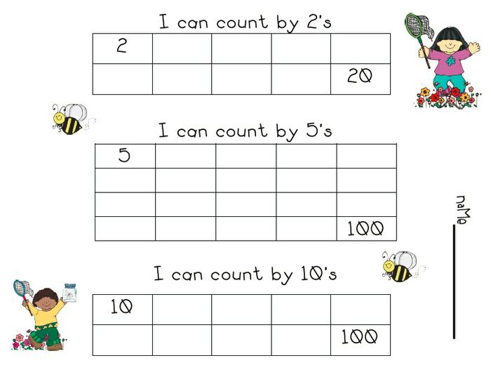 Skip counting worksheets kindergarten free