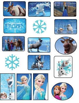 Printable Stickers Frozen