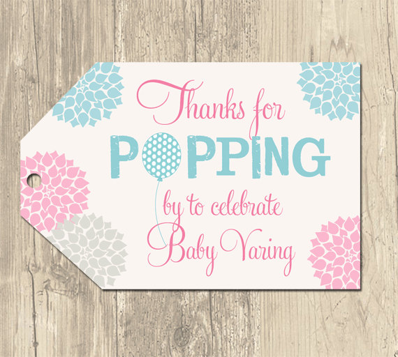 7 Images of Ready To Pop Baby Shower Free Printable Tag Templates