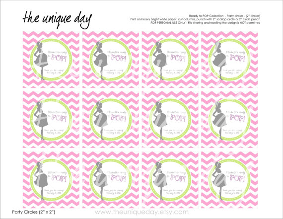 6 best images of ready to pop printable labels free ready to pop baby shower labels ready to for Ready to pop free printable