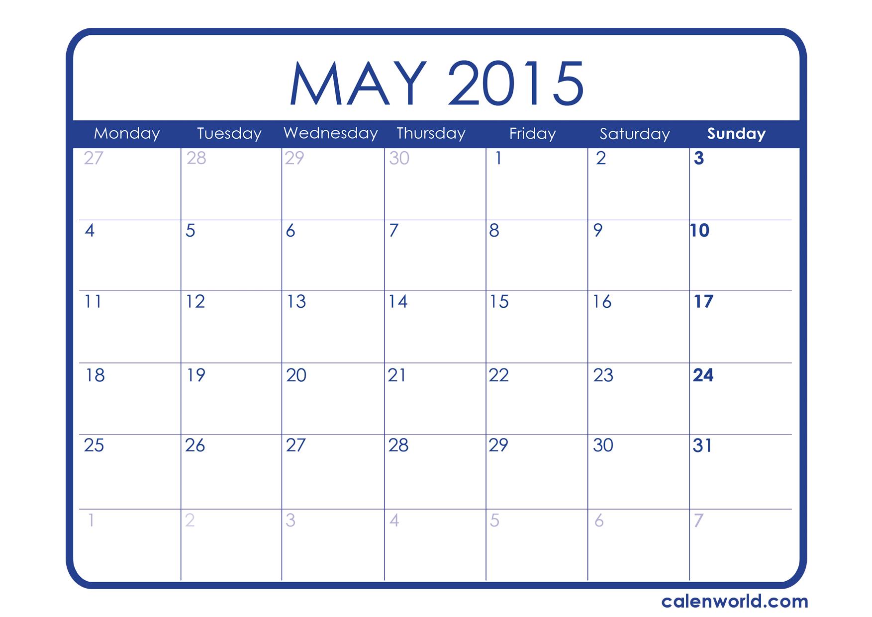 September 2015 Calendar Printable