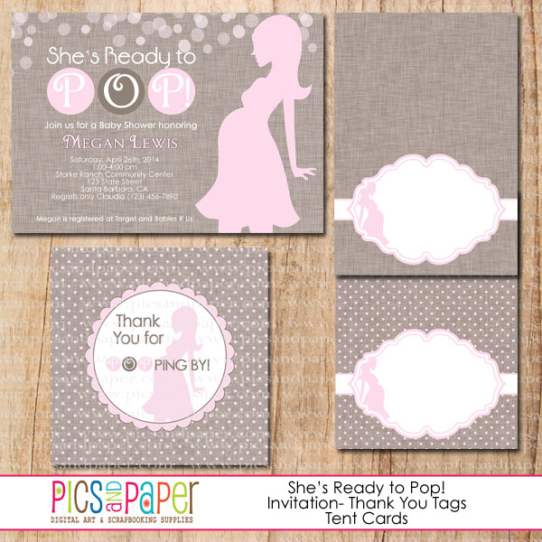 7 best images of ready to pop baby shower free printable for Ready to pop stickers template