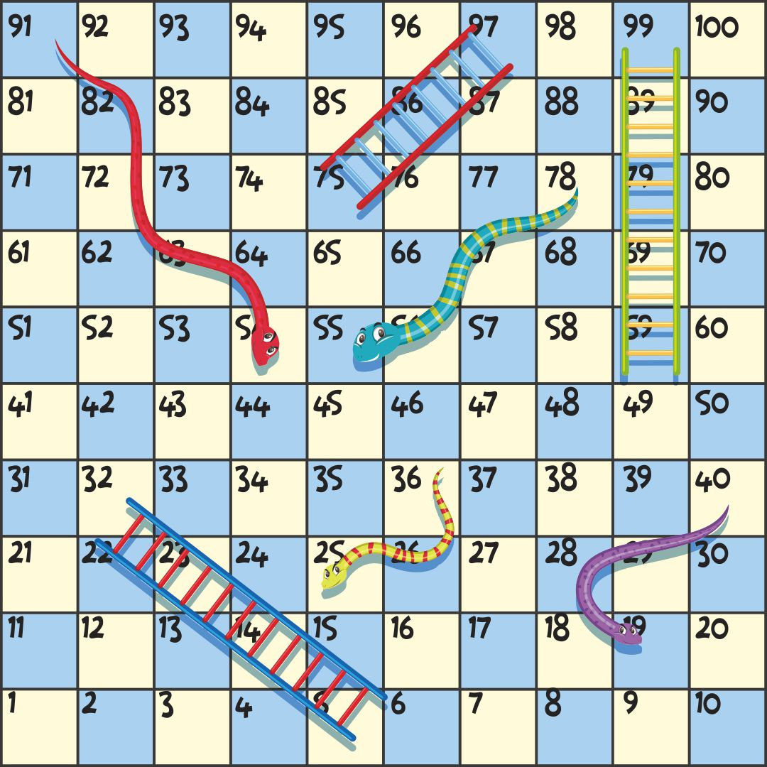 snakes and ladders printable template - 5 best images of printable christmas board games