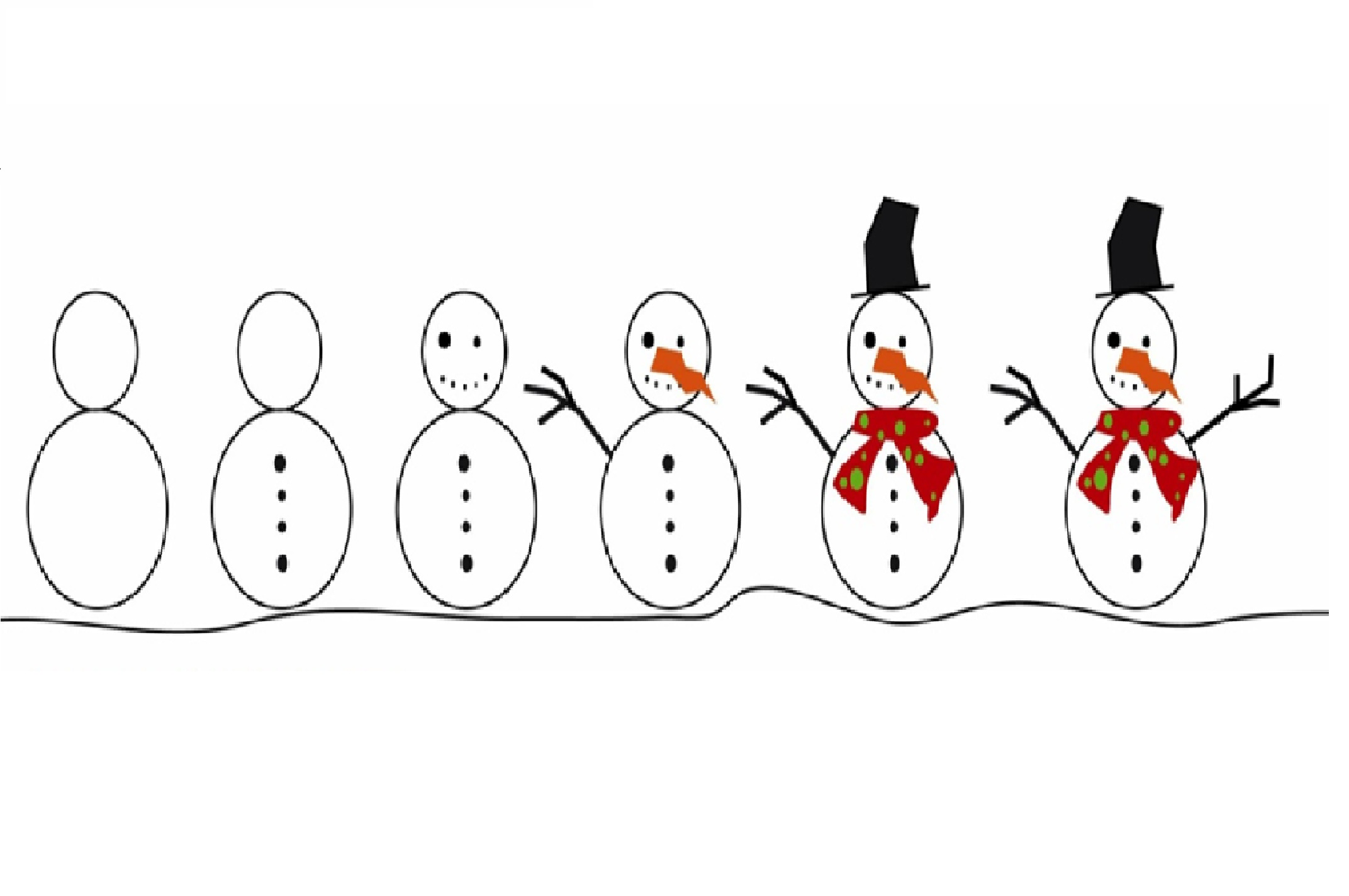 6 Images of Printable Build A Snowman Sequencing
