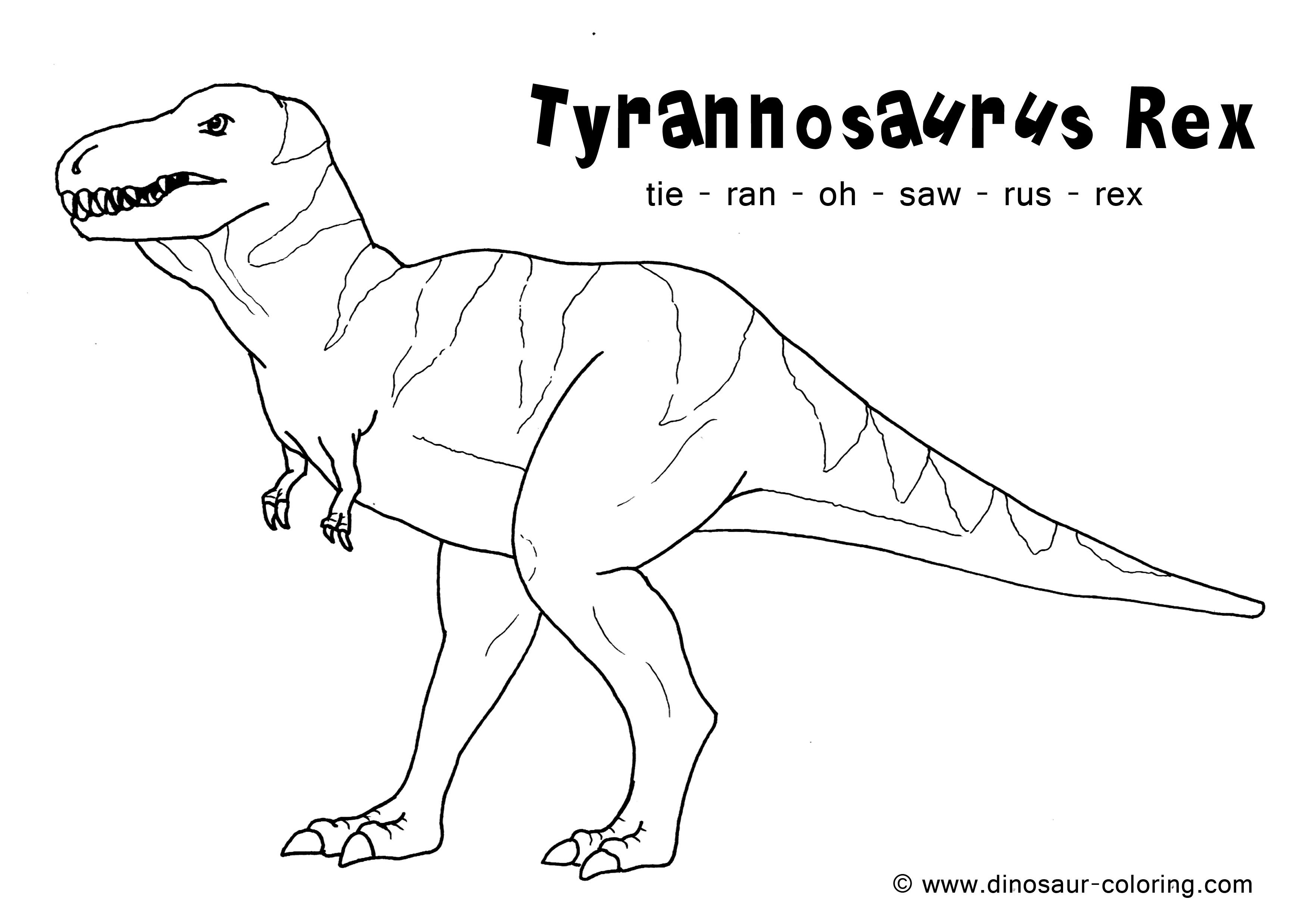 7 Images of T-Rex Coloring Printables