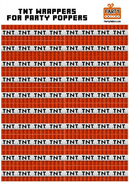 8 Images of Minecraft TNT Printables