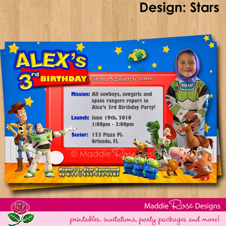 7 Images of Toy Story Invitations Printable