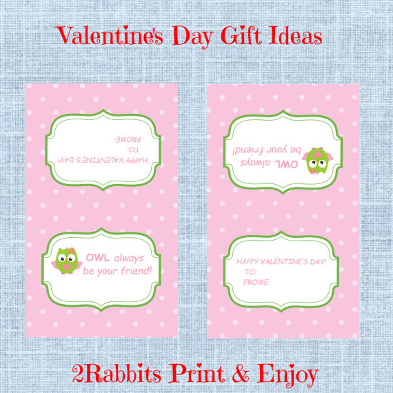 4 Images of Printable Valentine's Tags Folded