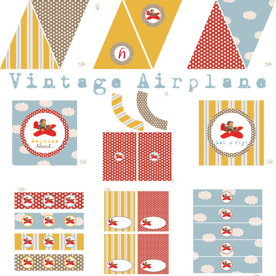 9 Images of Vintage Airplane Free Printables