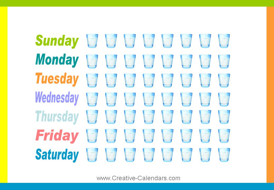 5 Images of Printable Daily Fluid Intake Chart