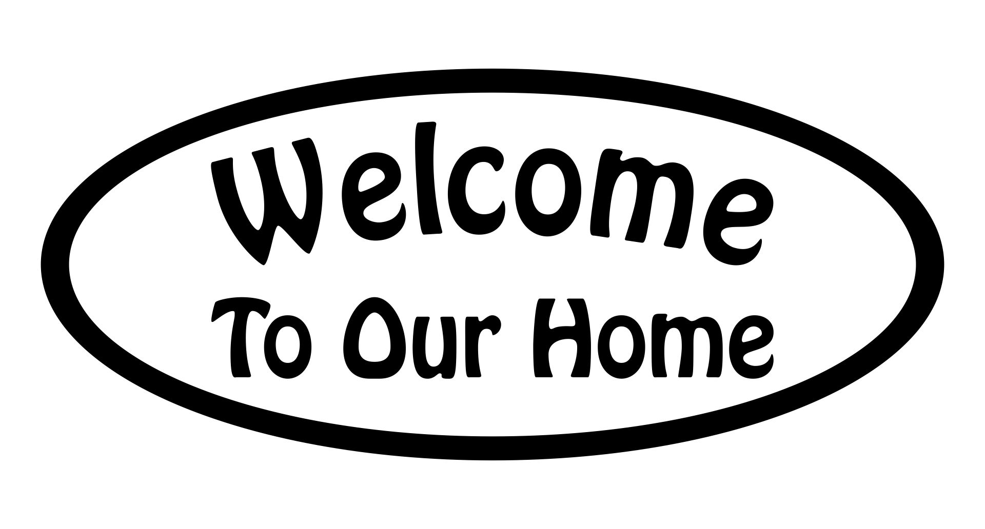 Welcome to Our Home Stencil Printable