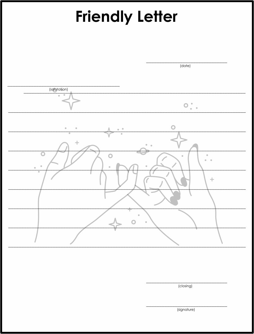 Writing Friendly Letter Template