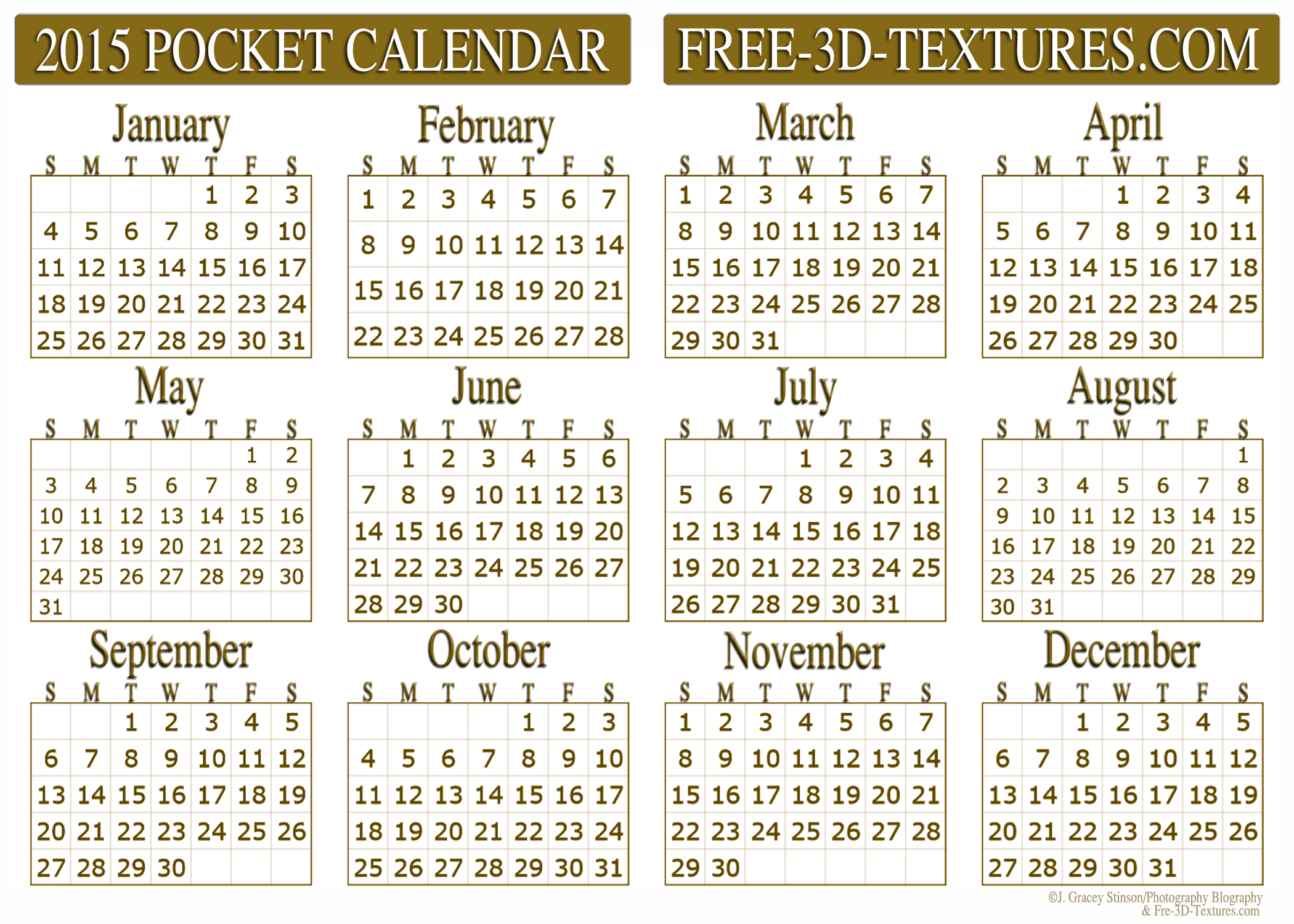 6 Images of Free Printable Pocket Calendars