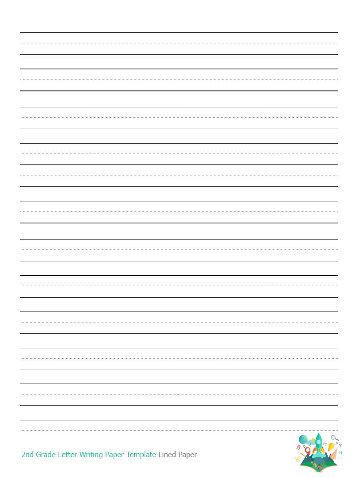 Lined writing paper for 3rd graders lined writing paper for Letter writing template for first grade