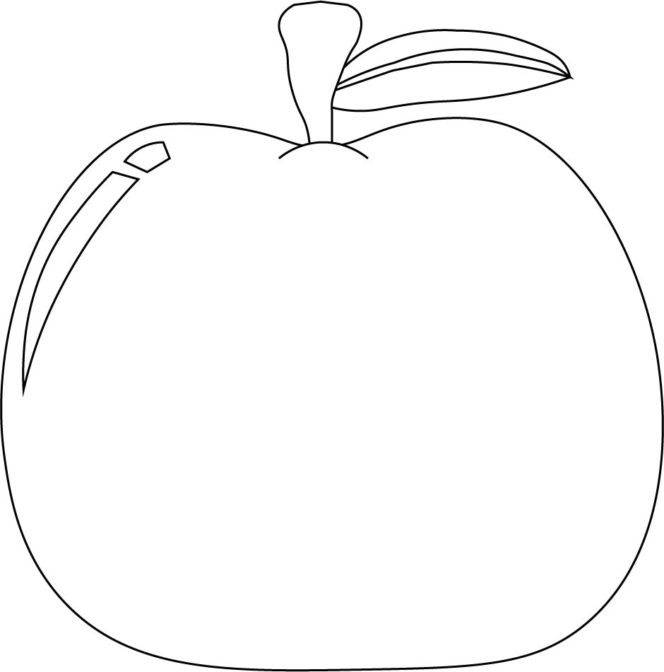 7 best images of printable apple template preschool free for Preschool apple coloring pages