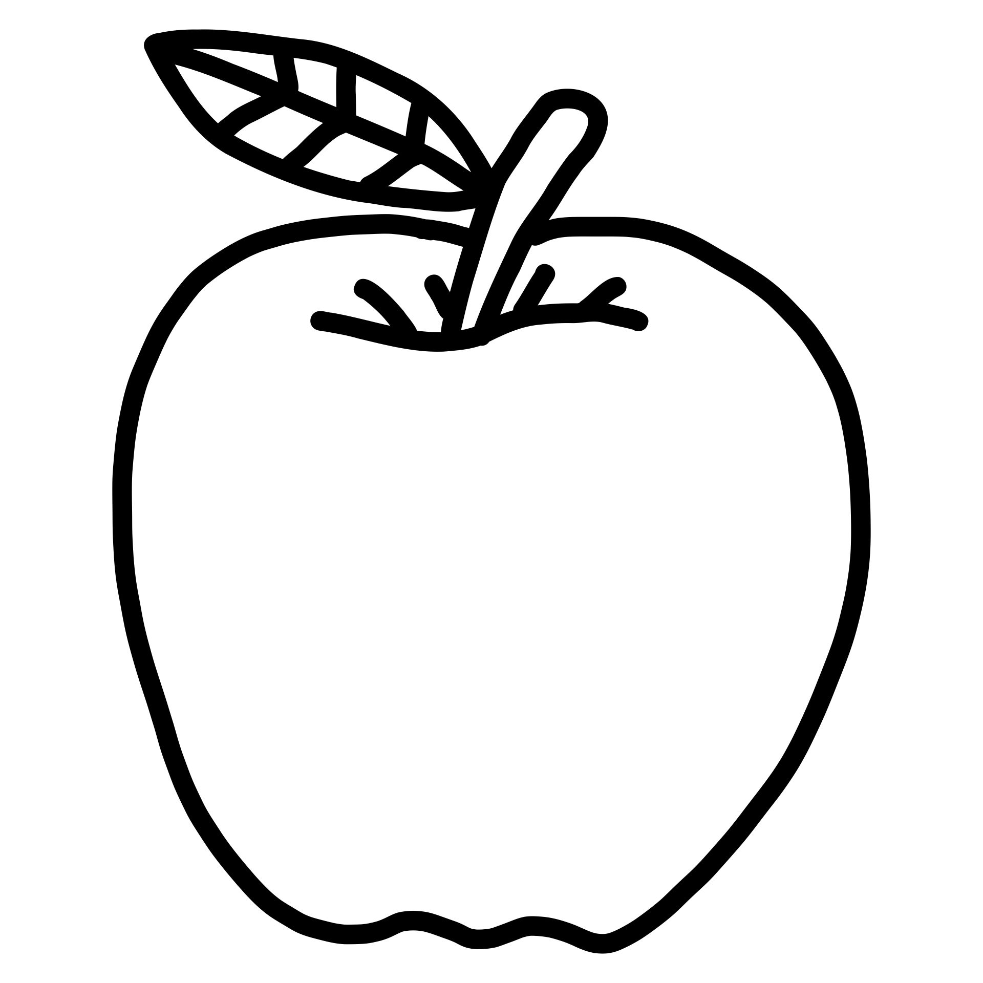 Apple Outline Template