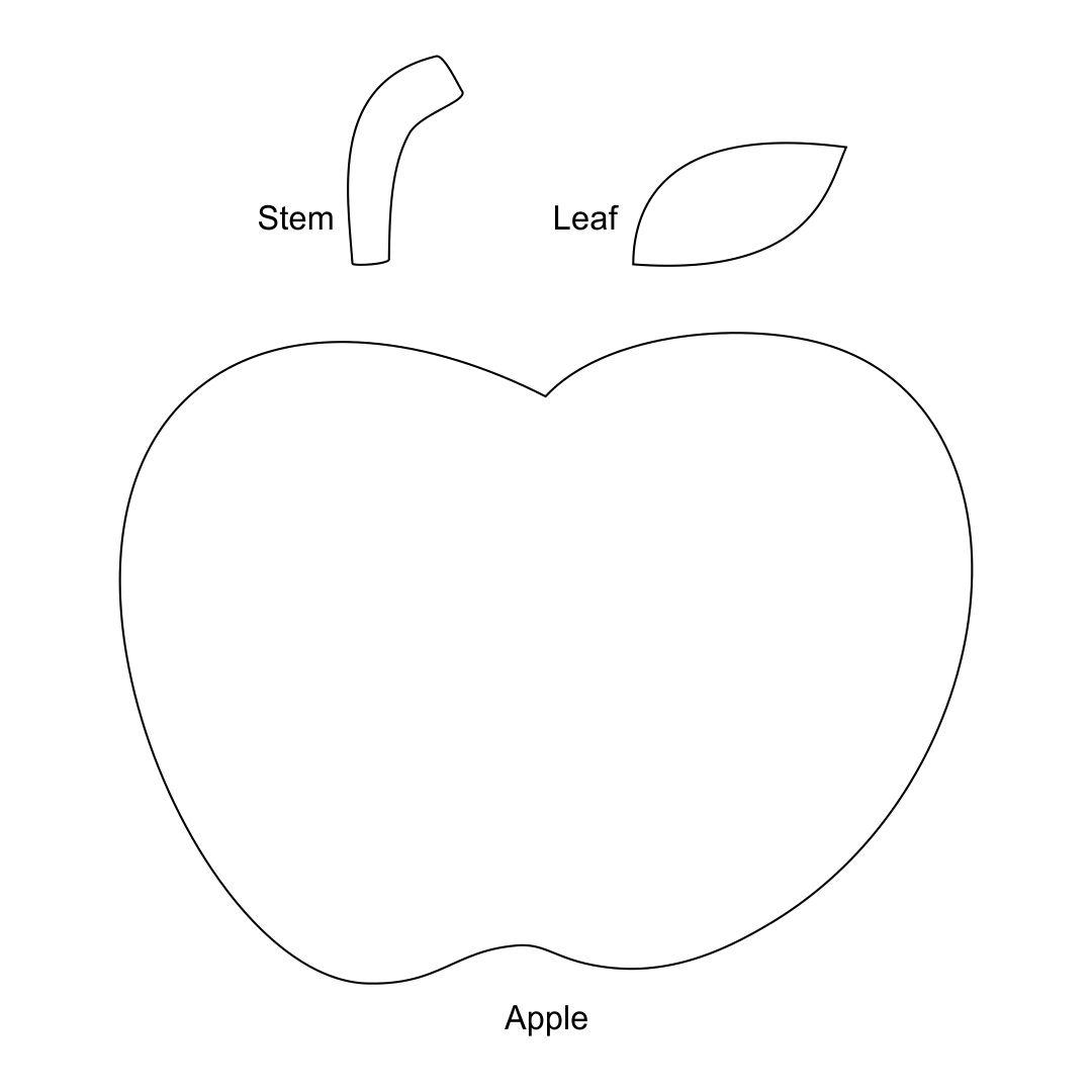 Apple Template Preschool Craft